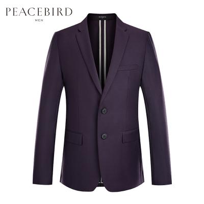太平鳥男裝 西服男休閑秋季羊毛外套新款單西修身韓版商務西裝男
