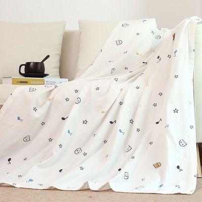 龍之涵【LONGZHIHAN】嬰兒浴巾紗布寶寶洗澡蓋毯初生兒毛巾被柔軟吸水兒童空調被寶寶夏涼毯 春季