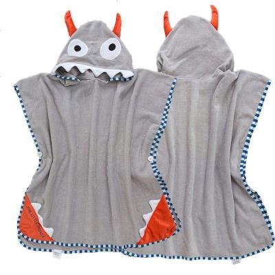 新款儿童浴巾儿童浴袍斗篷系扣连帽斗篷卡通宝宝沙滩巾