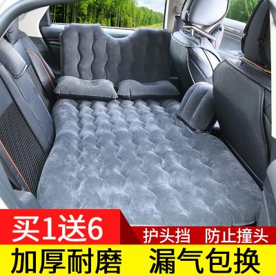 车载充气床汽车用品睡觉床垫闪电客轿车SUV中后排后座睡垫气垫床旅行床 豪华款-蓝