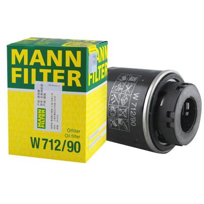 曼牌(MANN)機油濾清器W712/90波羅晶銳明銳朗逸高爾夫6新寶來邁騰 大眾EA111引擎適用