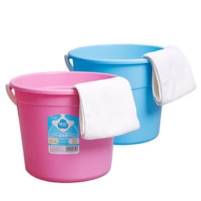茶花塑料水桶家用加厚无盖储水洗车洗地洗衣储物钓鱼桶圆桶洗澡储水小水桶拖把大号手提桶