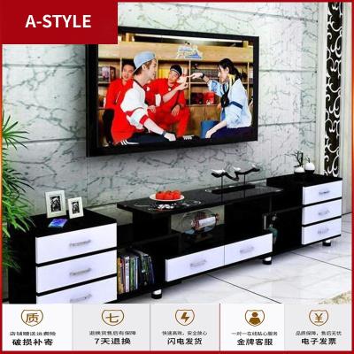 苏宁放心购高55cm客厅电视柜现代简约茶几钢化玻璃小户型伸缩家具简约机柜子A-STYLE