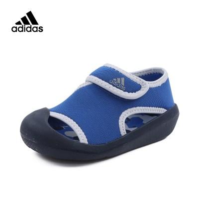 阿迪達斯兒童童鞋(adidas kids)夏季 游泳 男嬰童涼鞋 亮藍 BY2241