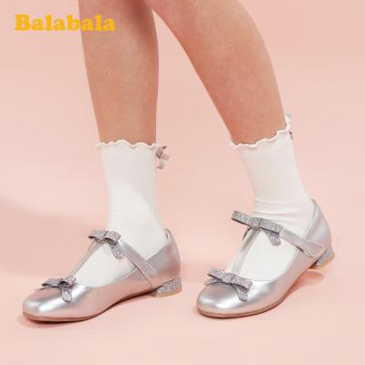 巴拉巴拉童鞋兒童皮鞋女公主鞋低跟大童鞋女2020新款春秋鞋子
