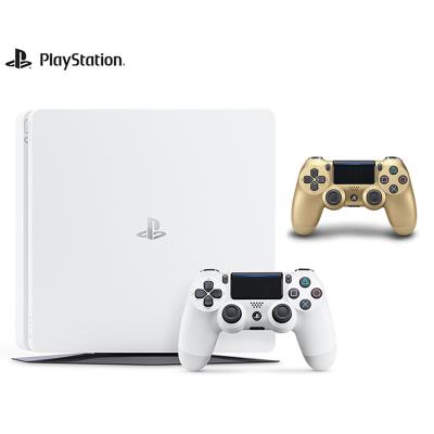 【套餐】索尼PlayStation4 PS4 500GB 白色 國行家用游戲機+PlayStation 4 游戲手柄金色
