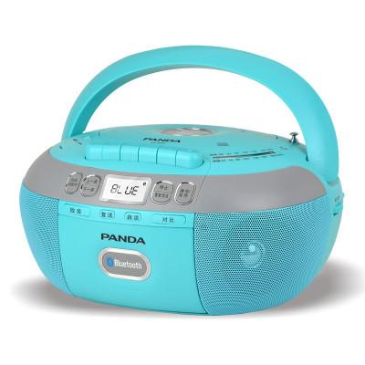 熊貓(PANDA)?CD-880紅色?藍牙無線音響收錄音機胎教CD機磁帶復讀