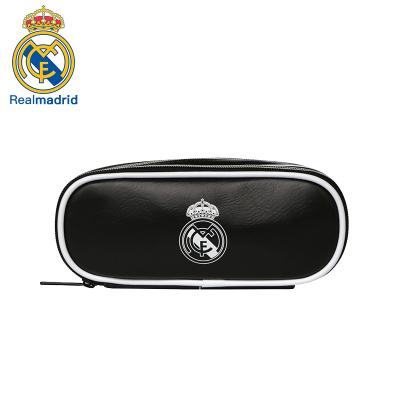 皇家馬德里Realmadrid官方正品時尚男女士多功能休閑包運動戶外商旅旅行手拿筆包文具包黑色