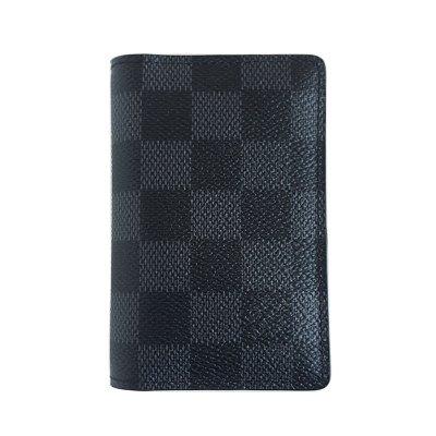 【正品二手99新】路易威登(LV)口袋錢夾 N63143 男士 經典 棋盤格 短款 對折 卡包 全套 帆布