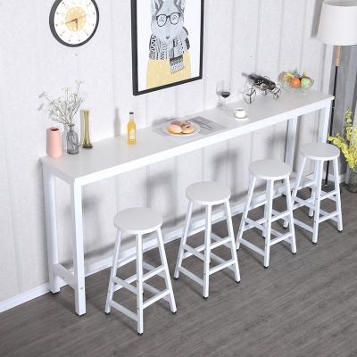 曉夢雅(xiaomengya)靠墻吧臺桌家用小吧臺陽臺餐桌高腳桌椅組合酒吧桌細長條桌窄桌子