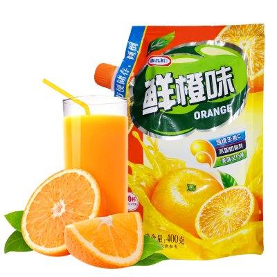 唐品軒鮮橙味速溶固體飲料400g 夏季果汁粉 家用袋裝 水果味速溶飲料 固體果珍沖飲粉 果汁沖調原料