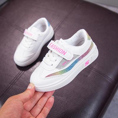 芳棋云品牌童鞋2019春秋季新款男童鞋兒童小白鞋女童鞋子白色板鞋女小學生鞋