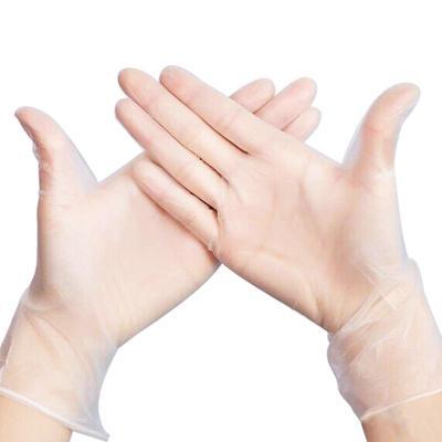 一次性食品级pvc乳胶手套膜医用透明餐饮烘焙家务100只胶皮手套
