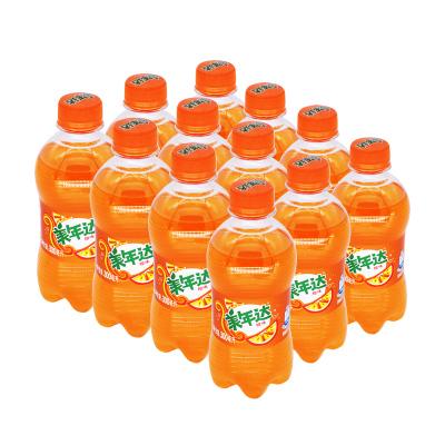 美年達橙味汽水300ML*12瓶碳酸飲料迷你瓶裝 百事可樂出品 整箱自營