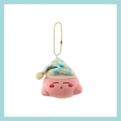 【精品好貨】日系星之卡比毛絨掛件可愛粉色少女心包包掛飾卡通公仔生日萌 淺綠色睡帽卡比