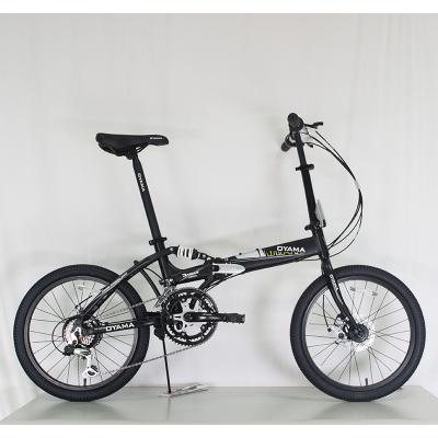 OYAMA欧亚马酷炫M500D避震12变速碟刹20寸铝合金折叠自行车学生车