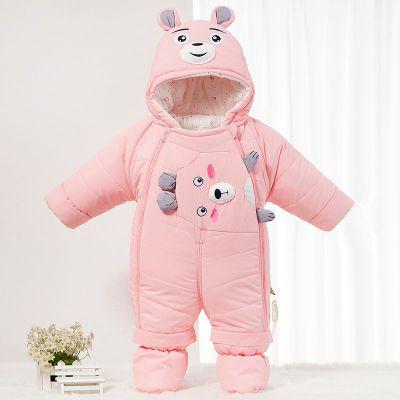 雪千寻婴儿棉衣服冬季男女宝宝外出服加厚保暖连体衣儿棉衣抱被