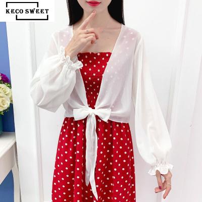 keco sweet 防曬衣女短款2020夏季新款小披肩外搭超薄雪紡開衫外套大碼空調衫