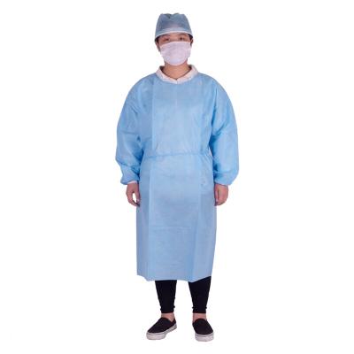 一次性手术衣加厚工作服隔离衣反穿衣防尘罩衣独立包装浅蓝色XXL