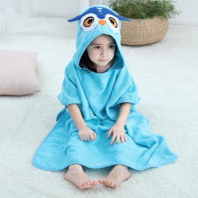 男女可穿兒童浴巾浴袍斗篷純棉毛巾料帶帽寶寶吸水速干衣威珺