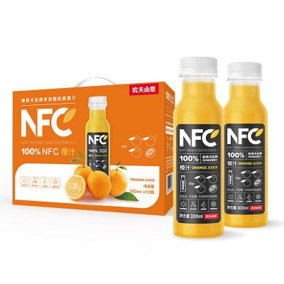 農夫山泉 NFC果汁飲料 100%NFC橙汁300ml*10瓶 禮盒分享裝
