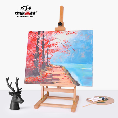 櫸木桌面小畫架/微型畫架/廣告展示架/木質油畫架 素描畫架