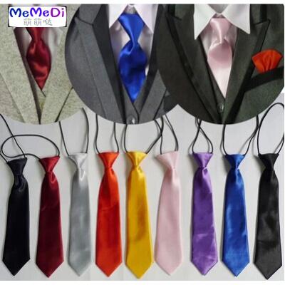 。韓版潮寶個性懶人男女孩兒童表演團體小領帶純黑紅白紫藍糖果37色