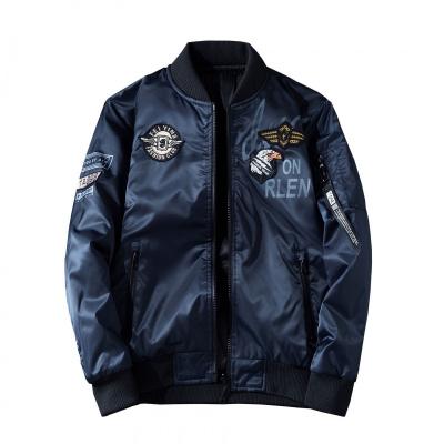 木林森(MULINSEN)大碼空軍夾克雙面穿240斤外套飛行冬季棒球棉衣男戶外保暖棉衣