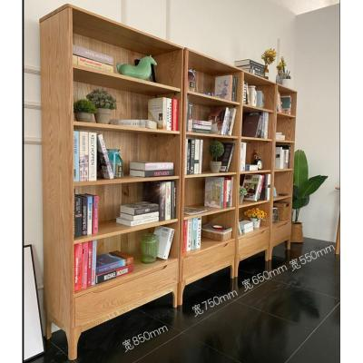 工廠北歐橡木書柜木質組合閃電客書架書房組合置物架落地展示架 65cm書架 1-1.2米寬