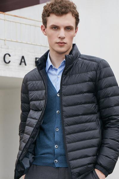 坦博爾新款輕薄羽絨服男短款立領大碼寬松男裝保暖外套冬TF17227