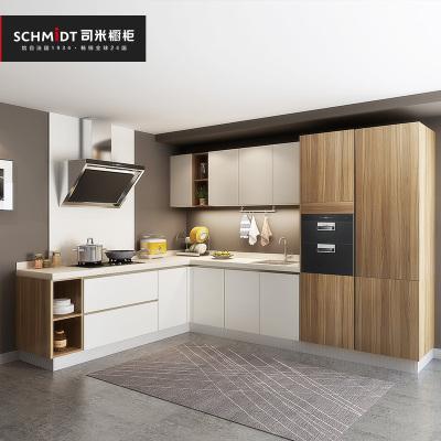 索菲亞司米櫥柜定制整體廚房灶臺柜櫥柜一體帶洗菜盆簡約拐角櫥柜 平米價