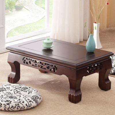HOTBEE实木雕花飘窗桌欧式榻榻米茶几现代简约炕桌和室几阳地台矮桌
