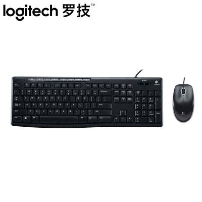 【羅技旗艦店】羅技(Logitech)MK200 有線套裝 多媒體套裝 鼠標鍵盤套裝