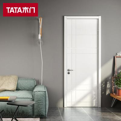 TATA木门 简约卧室门室内门家用木门 实木复合油漆门书房门静音门AC-020J