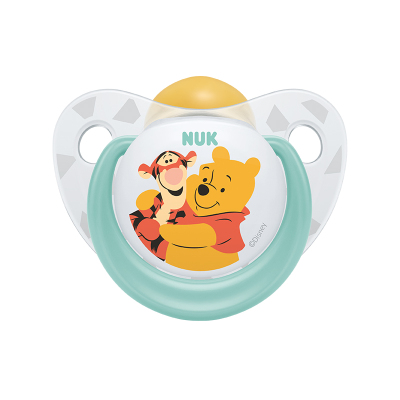 NUK自然實感安撫奶嘴寶寶安慰奶嘴乳膠迪士尼安睡型(6個月以上)圖案顏色隨機