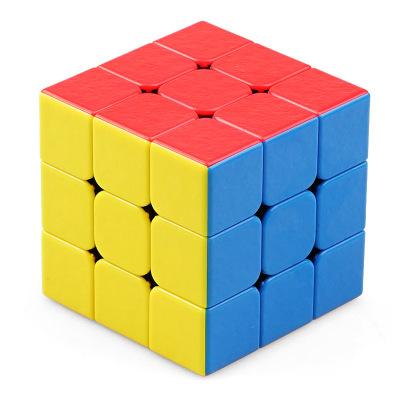 圣手7203A寶石三階魔方 專業比賽3階魔方GEM寶石 兒童益智玩具減壓魔方順滑不褪色 彩色