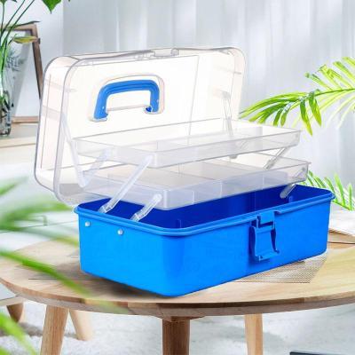 收納箱塑料醫藥箱家用大號折疊儲物整理箱美甲美術繪畫工具箱盒子弧威
