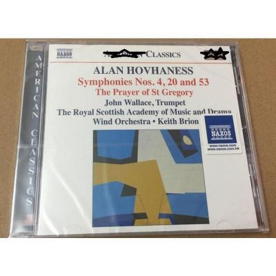 Naxos 8559207 Hovhaness:第4,20,53交响曲 CD 正版 预订