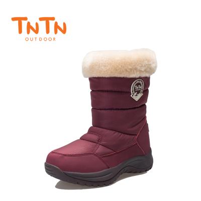 NTN韓版戶外冬季羊毛保暖東北高筒防水厚女士休閑棉鞋滑雪地靴子