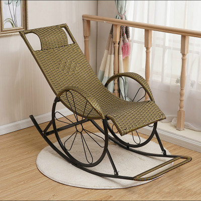 京好 摇椅躺椅家用成人摇摇椅老人椅逍遥椅午睡椅阳台休闲椅子懒人藤椅B78