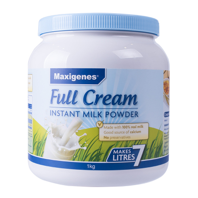 美可卓Maxigenes 全脂高钙成人奶粉 1kg/罐 奶味醇香30-36月澳大利亚进口