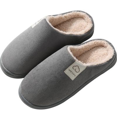 2020新【麂皮絨】棉拖鞋女厚底冬季居家室內保暖毛絨拖鞋情侶家居保暖拖鞋男