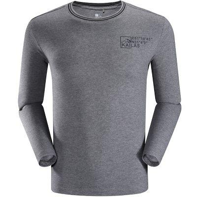 凯乐石Kailas 户外运动T恤男士2019春夏新款文化图案透气长袖T恤