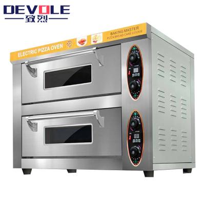 致烈(Devole)电烤箱商用 燃气烤箱 新二层二盘大型烤箱 电热大型披萨烤箱 面包 蛋挞 蛋糕 烘培大容量
