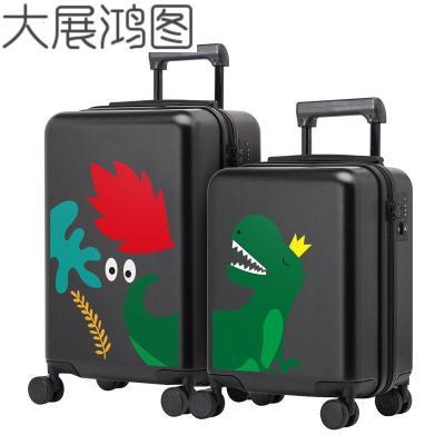 16寸儿童行李箱女卡通亲子拉杆箱可坐骑20寸登机箱旅行箱男