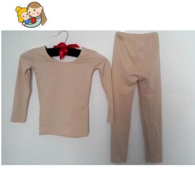 兒童舞蹈膚色肉色打底衣套裝加絨加厚秋冬男女童演出肉色保暖內衣