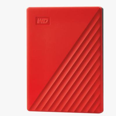 西部數據(WD)4TB USB3.0移動硬盤My Passport隨行版 2.5英寸 紅色WDBPKJ0040BRD