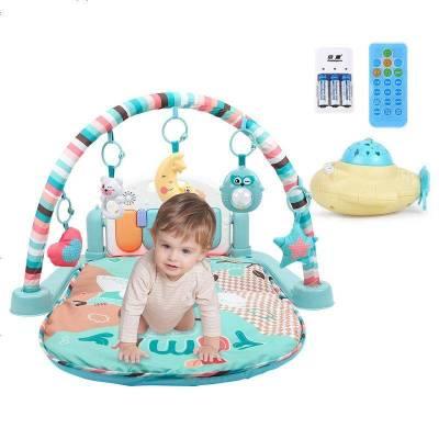 貝恩施 嬰兒玩具0-1歲 兒童健身架 新生兒玩具寶寶益智早教多功能音樂玩具男女孩禮物 【充電款】故事投影健身架