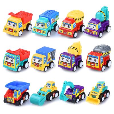 智恩堡/zhienb 儿童宝宝工程回力车消防惯性小汽车玩具儿童迷你推土搅拌挖掘机车模玩具 10只装