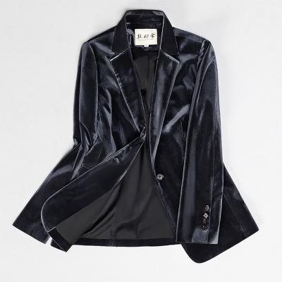 丝柏舍2019秋冬女士时尚纯色修身气质长袖显瘦西装S93B4590X